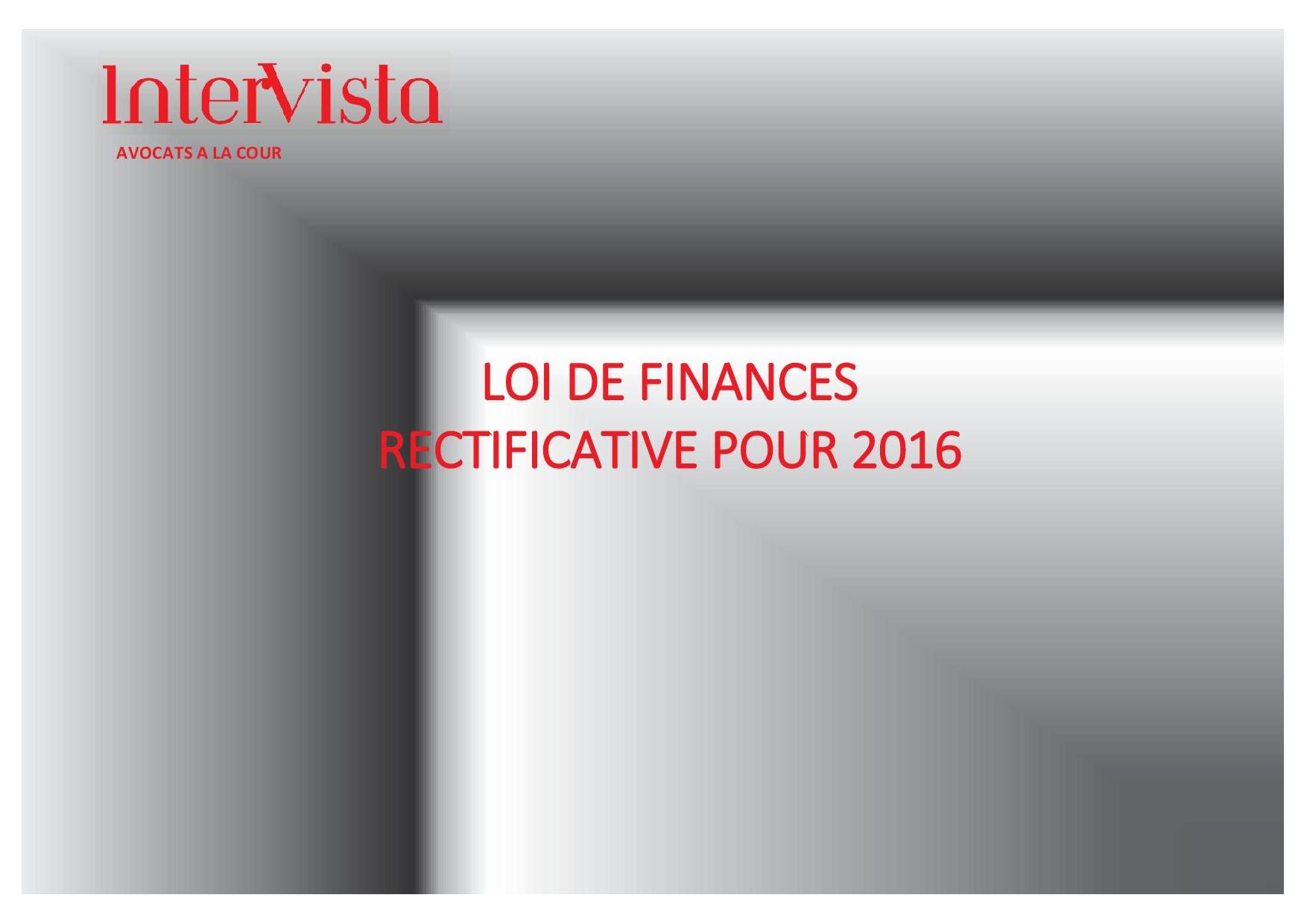 Page de garde - Synthèse LFR2016